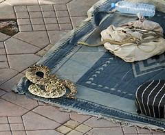 Be careful when walking by - Main Square, The Medina, Marrakesh, Morocco (TravelsWithDan) Tags: snakes cobra rattlesnake blanket tiles snakecharmers mainsquare marrekesh morocco africa touristtrap medina city urban canong3x