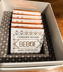 Beboe Cannabis-Infused Dark Chocolate (ChrisGoldNY) Tags: chrisgoldphoto chrisgoldny chrisgoldberg bookcovers albumcovers licensing iphone losangeles california fancy weed marijuana legal cannabis chocolates desert drugs box design products