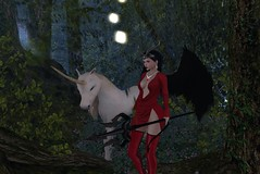 A walk in the forest (~*Valerian*~) Tags: secondlife maitreya laq blueberry unicorn pinkfuel