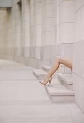 Women of Sofia (Pavel Valchev) Tags: leggy woman sofia bulgaria street frame life sony a7m3 a7iii mc11 canon usm 100mm 20 wideopen tele lens af ef legs summer city town