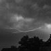 Lightning, August 18, 2019; 22:50:22; Black and White