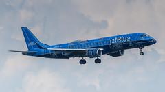 N304JB (gankp) Tags: dca arrivals ronaldreagannationalairport blueprintlivery jetblue n304jb embraer erj