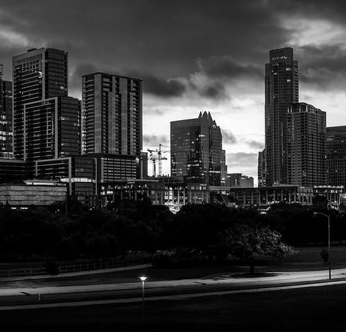 Downtown Austin Skyline Monochrome