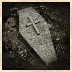 Closed Forever (johnsinclair8888) Tags: macromondays closed sepia coffin grave nikon johndavis d850 affinityphoto silverefex