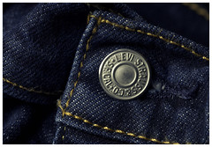 ...experimenting with an idea... (VanveenJF) Tags: mm hmm macro mondays vanveenjf closed macromondays button levis strauss sf america jeans clothing blue strong youth fashion