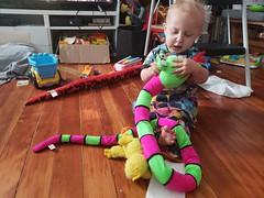 Eliza and snake (quinn.anya) Tags: eliza toddler snake