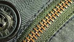 Closed (Mr_Pudd) Tags: nikond750 nikon macromondays stitching waxedcotton mantaray button closed macromonday macro focusmerge focusstack cotton canvas zipper zip