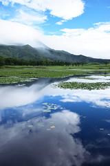 DSC_0632_001 (Medelwr) Tags: nature japan 自然 日本 水 water summer 夏 blue 青 風景 landscape mirror リフレクション 湖 lake sky clouds 空 雲