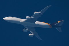 Boeing B748F - UPS (zpaksi) Tags: boeing b748 freighter contrailspotting ups