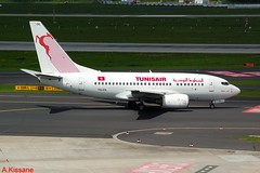 TUNISAIR B737 TS-IOL (Adrian.Kissane) Tags: airliner airline jet plane aircraft aeroplane 737 boeing germany aviation taxiway taxing airport outdoors 29497 1352017 b737 tsiol dusseldorf tunisair