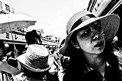Sunny Day.... (Victor Borst) Tags: street city trip travel urban blackandwhite bw woman sun travelling girl monochrome face japan lady female asian real japanese mono tokyo asia cityscape asians fuji faces market expression candid expressions citylife streetphotography sunny streetlife monotone fujifilm traveling asakusa urbanjungle reallife realpeople urbanroots xpro2 happyplanet asiafavorites