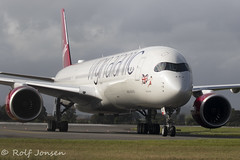 G-VLUX Airbus A350-1000 Virgin Atlantic Glasgow airport EGFP 19.08-19 (rjonsen) Tags: plane airplane aircraft aviation airliner taxying airside