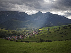 Touched by Gods hand (Michal Gazovic) Tags: zdiar ždiar village sunrays clouds mountains sky meadows summer beliansketatry tatrybielske olympus omd