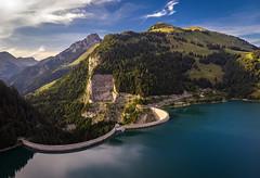 Barrage de l'Hongrin (Olivier Rapin) Tags: châteaudœx cantondevaud suisse barrage lhongrin vaud switzerland dam drone air mavic dji romandie lac see lake montagne montain