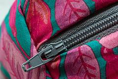 Closed Zip (alison's daily photo) Tags: closed zip macromondays macro fabric bag