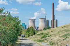 side by side (stevefge) Tags: 2019 deutschland duisburg duitsland germany magicmountain ruhr tigerturtle industry industrial nature natuur people street walkers family unsuspectingprotagonists unsuspecting candid cooling chimney landscape nikon reflectyourworld