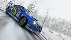 2004 impreza 1 (Keischa-Assili) Tags: 2004 subaru impreza wrx sti blue rally car snow forza horizon 4 4k uhd screenshot wallpaper photo