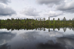 P5270503 (ernsttromp) Tags: norway olympus omd em10 918mmf456 mft microfourthirds mirrorless 1836mm f456 ernsttromp landscape reflection water lake forest trees clouds sky 3x2 2019 nature m43 scandinavia
