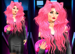 Black Pink in your area (Anabigail) Tags: laq olive michan horntail shinystuffs sl blogger cat ana foxcity