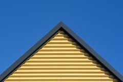 Yellow triangle (Jan van der Wolf) Tags: map1886v triangle geometric geometry geometrisch geometrie drie driehoek roof dak yellow geel lines lijnen edge rand architecture architectuur