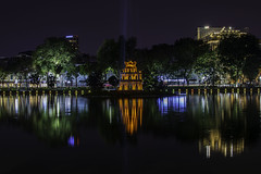 Hoàn Kiếm Lake (Greg M Rohan) Tags: nikon nikkor d7200 longexposure nightphotography lake water lights asia nightlights vietnam hanoi reflection