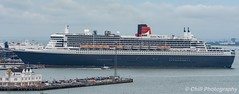 Queen Mary 2 about to leave Southampton docks (cjhill1969) Tags: queen mary 2 cunard cruise ship southampton docks