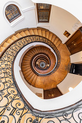The Stair-Well Pt. 1 (bjoernahrensfotografie) Tags: munich münchen architecture architektur spiral abstract minimal lookup lookdown stairs staircase stairwell treppe treppenhaus escalier brunnen well fountain