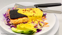 Salmon and garlic lime Hollandaise slaw (garydlum) Tags: cabbage carrot fennel garlicbutter hollandaisesauce limejuice onion salmon canberra australiancapitalterritory australia