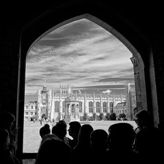 side gate (khrawlings) Tags: trinitycollege cambridge gate door queens great court blackandwhite monochrome bw buildings architecture arch