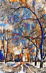 Lens & Brush 8 (V_Dagaev) Tags: art trees landscape nature digital dynamicautopainter visualdelights painterly painting square park