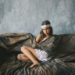 Masha. (matveev.photo) Tags: light summer white girl face wall studio photography legs young teen squareformat teenage portrait people art matveev