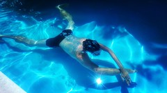 Underwater experience (giorgio.gissi) Tags: apuliatimebb apuliatime feelgood photooftheday photography blue morning summer training underwater swimming watercolor water swimmingpool