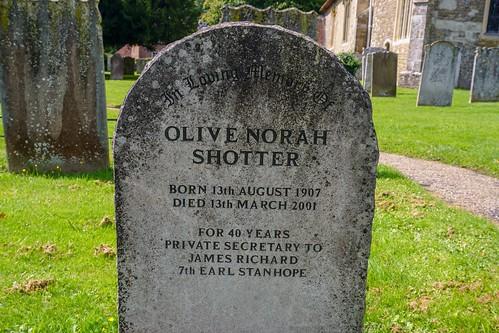 Olive Norah Shotter Chevening Church