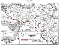 Iraq Railways - The Berlin Baghdad Railway (Bagdadbahn) - route map (HISTORICAL RAILWAY IMAGES) Tags: bagdadbahn baghdad iraq turkey mesopotamia train eisenbahn wwi map railway middleeast
