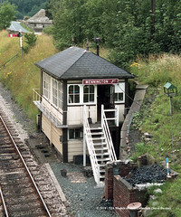 c.1985 - Wennington Junction, near Lancaster, Lancashire. (53A Models) Tags: britishrail midlandrailway signalbox wenningtonjunction lancaster lancashire train railway locomotive railroad