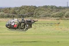 2-LOUD - 1970 build Aerospatiale SA.318C Alouette Astazou, inbound to parking on 'C' at Barton (egcc) Tags: 2loud 2138 a79 aerospatiale alouette astazou barton cityairport egcb hawkz helicopter lightroom manchester ola79 sa318c alouetteii