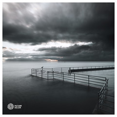 Wavering (picturedevon.co.uk) Tags: shoalstone lido sea water pool brixham torbay devon uk le sky clouds weather tide coast light bird seagull sony a7rii benro filters picturedevoncouk samyang 35mm