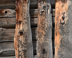 result of time (Furcletta) Tags: mathon switzerland graubuenden che wood planks 90 degrees withered orange grey barn wall nikon d800 handheld 70200mm28e