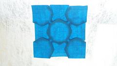 Bird Base Tessellation by Christiane Bettens (ilja11) Tags: tessellation origami origamitessellation light blue geometry geometric pattern christianebettens paper papercraft birdbase