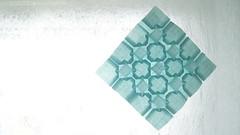 Five and Four by Eric Gjerde (ilja11) Tags: tessellation light blue geometry geometric pattern paper papercraft fiveandfour lightblue square ericgjerde origami origamitessellation