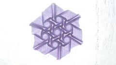 Open Back Hexagon Twist by Eric Gjerde (ilja11) Tags: openbackhexagontwist ericgjerde triangle hexagon origami origamitessellation purple violet geometry geometric pattern geometricpattern paper papercraft