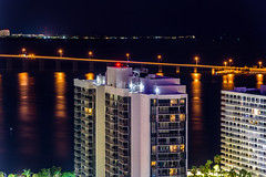 Biscayne Bay (ruifo) Tags: miami biscayne bay florida fl us usa united states skyscraper skyscrapers skyline city urban night dark low light nikon d850 nikkor afs 24120mm f4g ed vr lights noite noche
