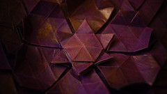 109 recto by Lydia Diard (ilja11) Tags: lydiadiard tessellation origamitessellation star flower purple violet copper closeup paper papercraft origami geometry beautiful geometric pattern