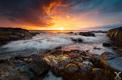Fire and Ice (DanielKHC) Tags: mauritius seascape sunset long exposure nisi filters nd1000 nd64 nikon d850 nikkor 1424mm sea waves rocks albion clouds dramatic sky