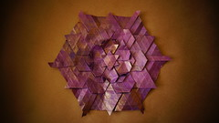 109 recto by Lydia Diard (ilja11) Tags: lydiadiard tessellation origamitessellation star flower purple violet copper paper papercraft origami geometry beautiful geometric pattern
