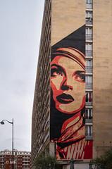 Le rêve (MF[FR]) Tags: street art paris building france 13 arrondissement district woman look eyes windows fenêtres samsung nx1