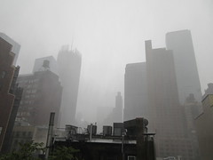 2019 Rainy Sunday Afternoon Hells Kitchen Clinton 8187 (Brechtbug) Tags: 2019 rainy sunday afternoon hells kitchen clinton near times square broadway nyc 08182019 new york city midtown manhattan rain shower summer august storms showers downpour deluge wet drops drop dropping down weather building fog like foggy hell s nemo southern view soaker soak soaking
