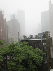 2019 Rainy Sunday Afternoon Hells Kitchen Clinton 8177 (Brechtbug) Tags: 2019 rainy sunday afternoon hells kitchen clinton near times square broadway nyc 08182019 new york city midtown manhattan rain shower summer august storms showers downpour deluge wet drops drop dropping down weather building fog like foggy hell s nemo southern view soaker soak soaking
