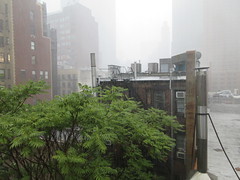 2019 Rainy Sunday Afternoon Hells Kitchen Clinton 8176 (Brechtbug) Tags: 2019 rainy sunday afternoon hells kitchen clinton near times square broadway nyc 08182019 new york city midtown manhattan rain shower summer august storms showers downpour deluge wet drops drop dropping down weather building fog like foggy hell s nemo southern view soaker soak soaking