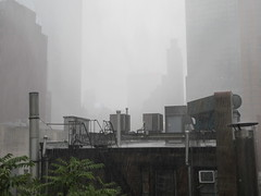 2019 Rainy Sunday Afternoon Hells Kitchen Clinton 8167 (Brechtbug) Tags: 2019 rainy sunday afternoon hells kitchen clinton near times square broadway nyc 08182019 new york city midtown manhattan rain shower summer august storms showers downpour deluge wet drops drop dropping down weather building fog like foggy hell s nemo southern view soaker soak soaking